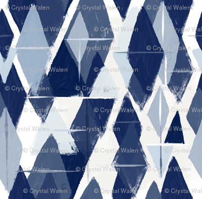 Abstract diamonds blues