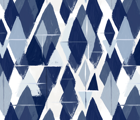 Abstract diamonds blues fabric by crystal_walen on Spoonflower - custom fabric