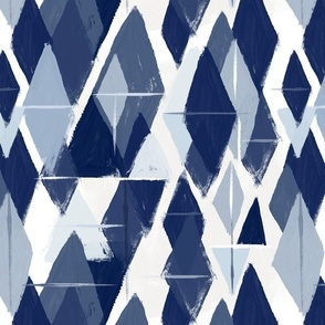 Abstract diamonds blues