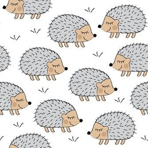 hedgehogs on white