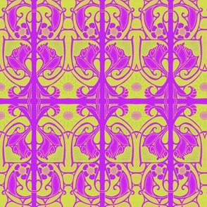 Purple and Lime Nouveau Splat