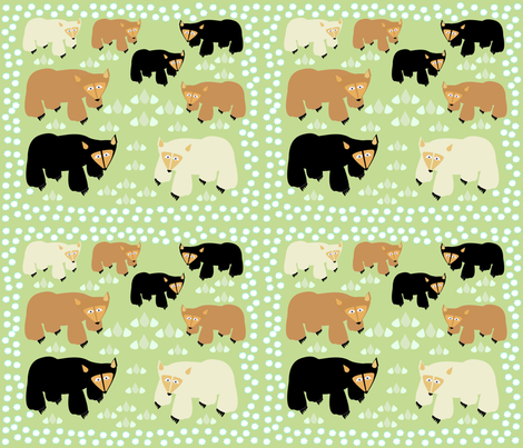 bears bears bears fabric by designs_by_phyllis_lepore on Spoonflower - custom fabric