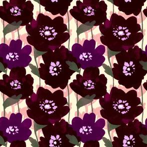 Dark Poppies on Creme