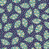 Pattern leaves on dark purple
