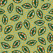 Patterned leaves on tan