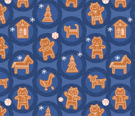 Ginger Friends fabric by chris_jorge on Spoonflower - custom fabric