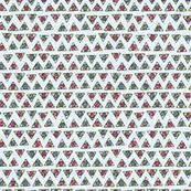 tribal geometric triangles on pale blue