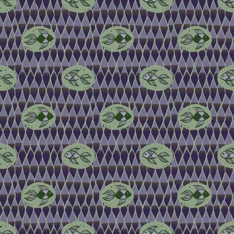 Dark African Fish fabric by samantha_w on Spoonflower - custom fabric