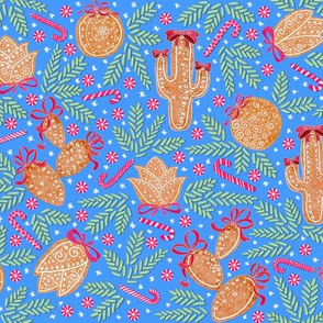Holiday Cacti Gingerbread cookies_(retro-blue)