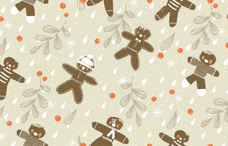 Milk and Cookies M+M Quinoa by Friztin fabric by friztin on Spoonflower - custom fabric