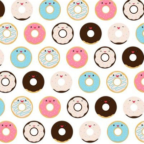 Cute Smiling Donuts