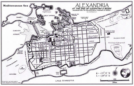 "Ancient Alexandria (56""W) fabric by thinlinetextiles on Spoonflower - custom fabric"