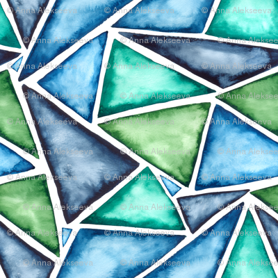 SMALL pattern watercolor fragmentation