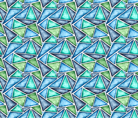 SMALL pattern watercolor fragmentation fabric by kostolom3000 on Spoonflower - custom fabric