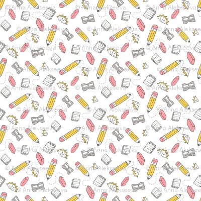 SMALL pencil eraser sharpener pattern