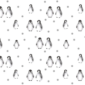 Baby penguins with dotts