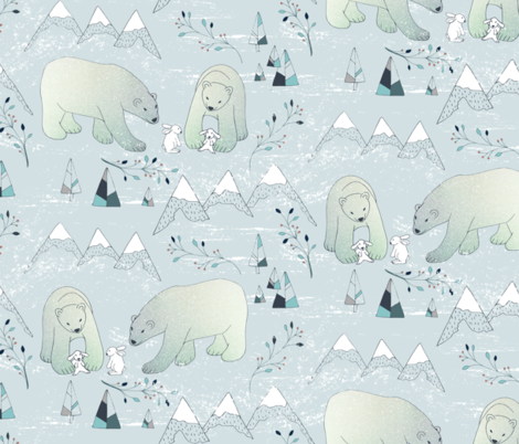 Arctic friendship fabric by gabriellemutel on Spoonflower - custom fabric