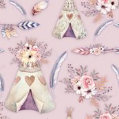 Rspring-teepee-flowers-feathers-powder-pink-by-floweryhat_shop_thumb