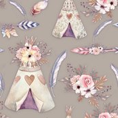 Rspring-teepee-flowers-feathers-sand-taupe-beige-by-floweryhat_shop_thumb