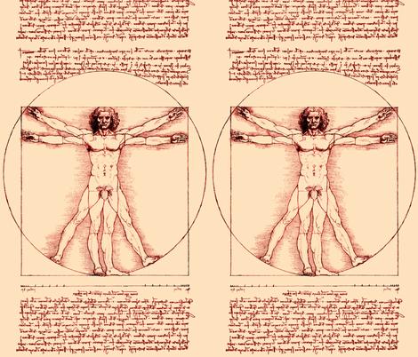 2 censored Vitruvian Man Leonardo da Vinci classical Renaissance ...