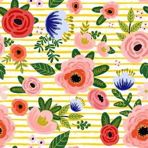 "8"" Fresh Blooms - Yellow Stripes"