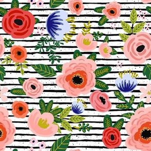 "8"" Fresh Blooms - Stripes"