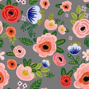 "8"" Fresh Blooms - Grey"