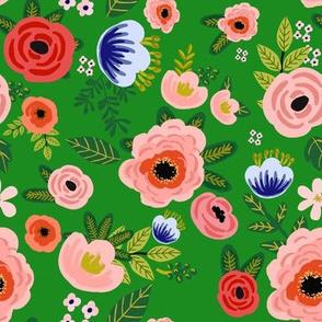 "8"" Fresh Blooms - Green"