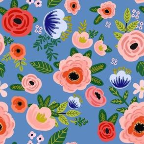 "8"" Fresh Blooms - Blue"