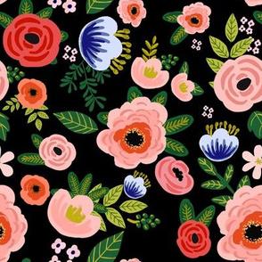"8"" Fresh Blooms - Black"