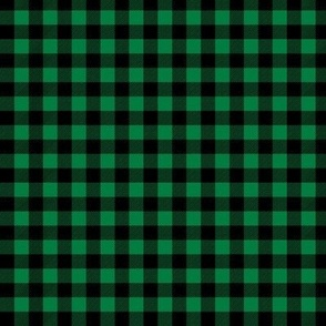 buffalo plaid (smaller) green christmas fabric christmas check christmas design