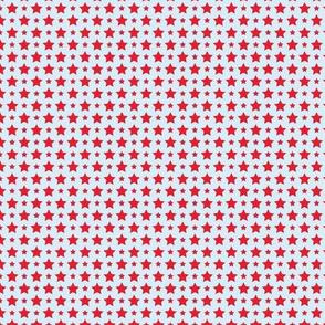 Santa Claus Stars Blue Red
