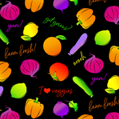 I Heart Veggies! (Black)