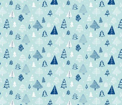 Patroon_kerstbomen_lichtblauw_shop_preview