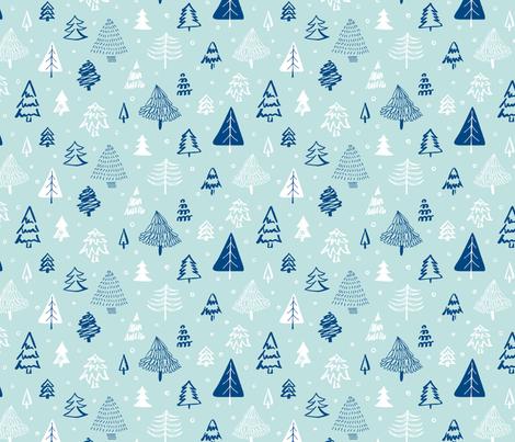 Scandinavian Christmas forest  fabric by revista on Spoonflower - custom fabric