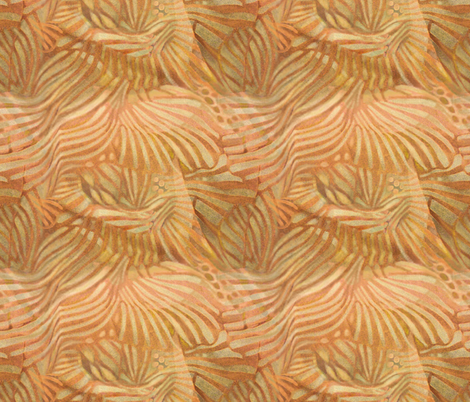 fan abstract apricot sand fabric by wren_leyland on Spoonflower - custom fabric