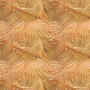 fan abstract apricot sand