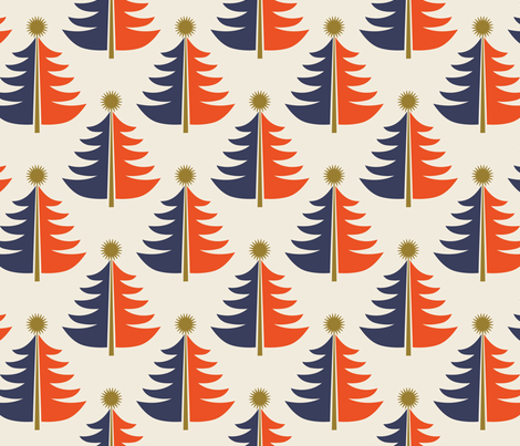 Tree Topped ~ Nordica fabric by retrorudolphs on Spoonflower - custom fabric