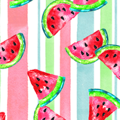 Summer Watermelon Multi-Stripe