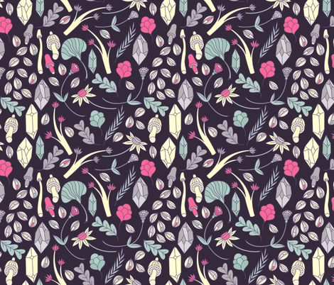 Spiritual Botanical fabric by musingtreedesigns on Spoonflower - custom fabric