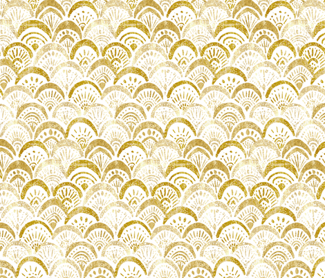 mermaid gold sparkle fabric by crystal_walen on Spoonflower - custom fabric