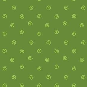 Whimsical Green Dot