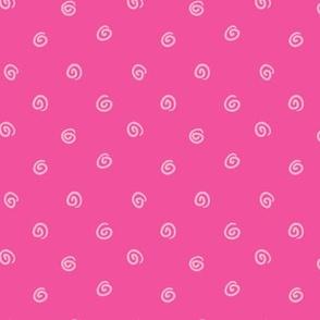 Whimsical Circles Hot Pink