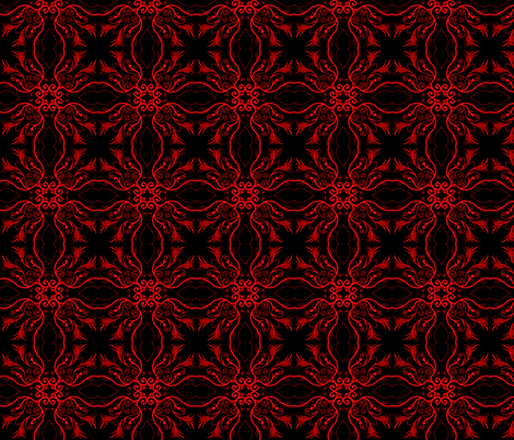 Red Mandalas fabric by reneeciufo on Spoonflower - custom fabric
