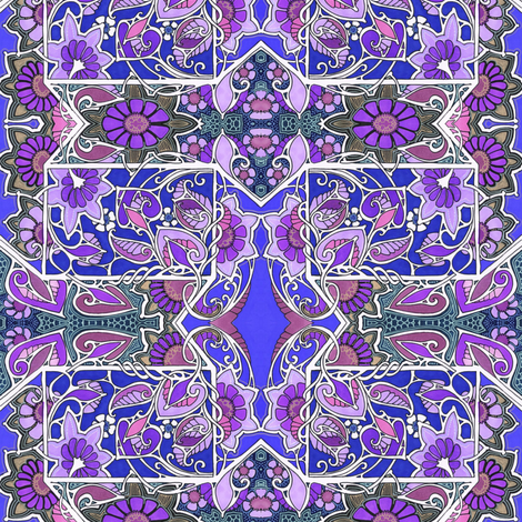 Lavender Dreams, Purple Schemes fabric by edsel2084 on Spoonflower - custom fabric