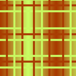 rust-lime ombre plaid