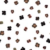 floral watercolor dots