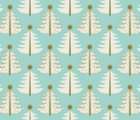 Tree Topped ~ Cool Christmas  fabric by retrorudolphs on Spoonflower - custom fabric