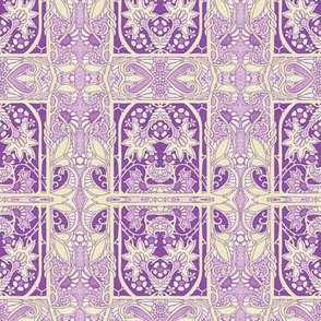 Purple/Cream Garden Dream