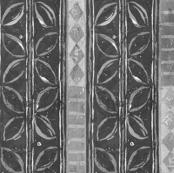 Tribal Leaf Print Black and White